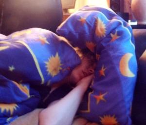 Sarah schläft