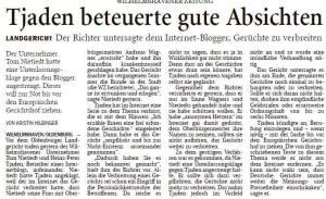 Wilhelmshavener Zeitung 2. 7. 2015