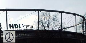 Sonnenuntergang an HDI-Arena